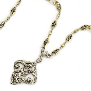 Sweet Romance Crystal Victorian Wedding Pendant Necklace