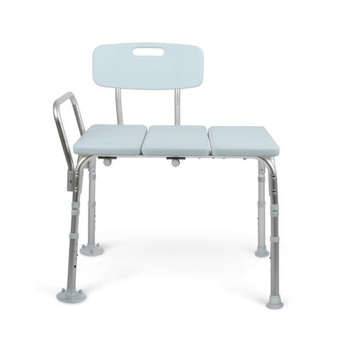 Medline Tool-Free Transfer Bench with Microban Antimicrobial Product Protection
