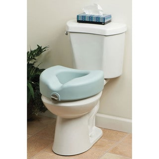 Medline Locking Elevated Toilet Seat with Microban Antimicrobial Protection