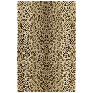 Hand-tufted Lawrence Cheetah Gold Wool Rug (5' x 7'9)