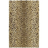 Hand-tufted Lawrence Cheetah Gold Wool Rug - 5' x 7'9