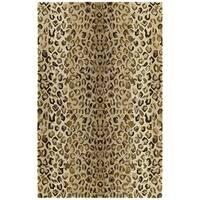 Hand-tufted Lawrence Cheetah Gold Wool Rug (3' x 5')