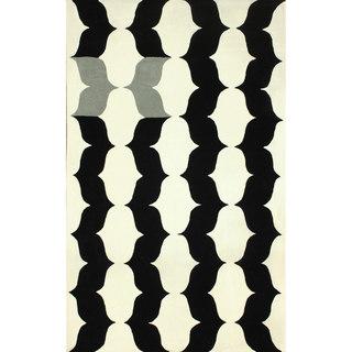 nuLOOM Handmade Modern X Trellis Wool Rug (5' x 8')