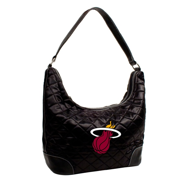 Little Earth NBA Miami Heat Quilted Hobo Handbag
