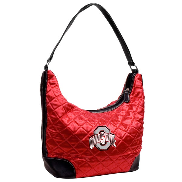 Little Earth NCAA Ohio State Buckeyes Quilted Hobo Handbag