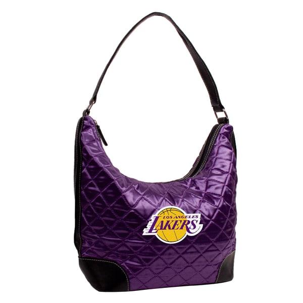 Little Earth NBA Los Angeles Lakers Quilted Hobo Handbag