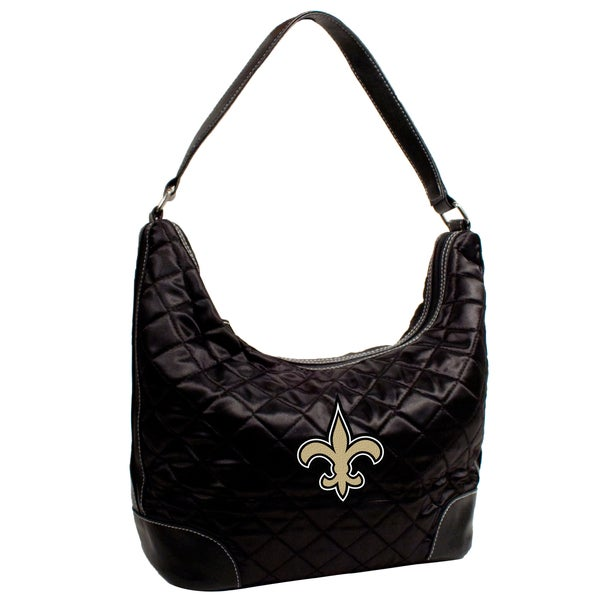 Little Earth NFL New Orleans Saints Quilted Hobo Handbag