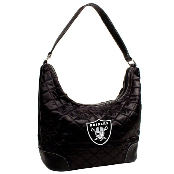 Little Earth NFL Oakland Raiders Quilted Hobo Handbag