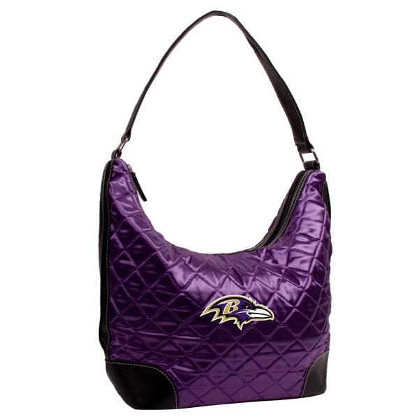 Little Earth NFL Baltimore Ravens Quilted Hobo Handbag