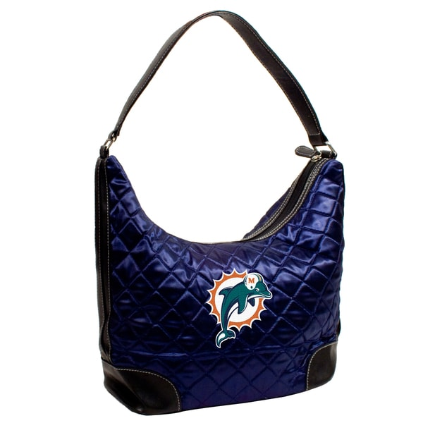 Little Earth NFL Miami Dolphins Quilted Hobo Handbag