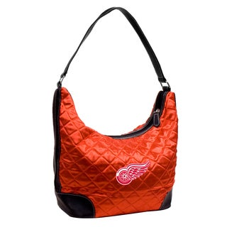 Little Earth NHL Detroit Redwings Quilted Hobo Handbag