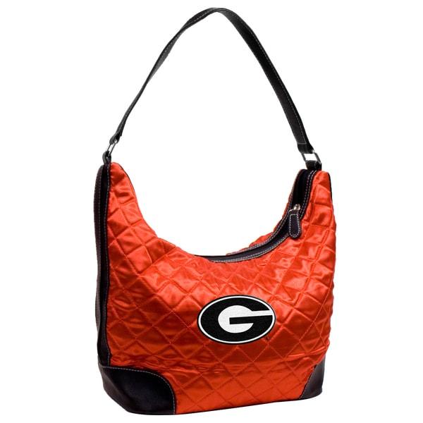 Little Earth NCAA Georgia Bulldogs Quilted Hobo Handbag