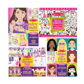 Melissa & Doug Girls Sticker Bundle - Multi