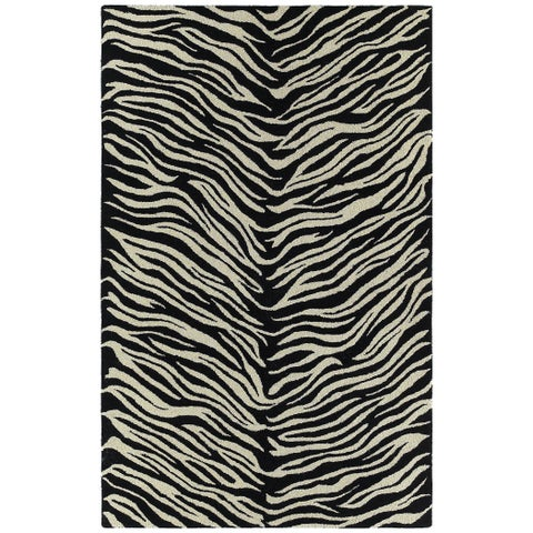 "Hand-tufted Lawrence Zebra Wool Rug - 9'6"" x 13'"