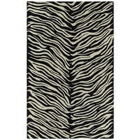 Hand-tufted Lawrence Zebra Wool Rug - 9'6 x 13'