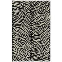 Hand-tufted Lawrence Zebra Wool Rug - 7'6 x 9'