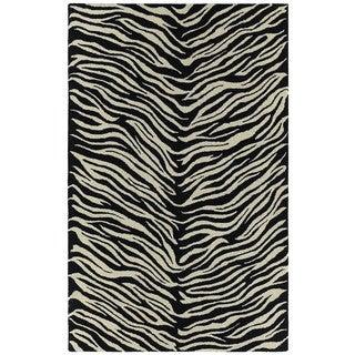 Hand-tufted Lawrence Zebra Wool Rug (5'0 x 7'9)