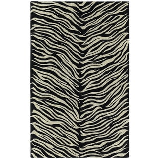 Hand-tufted Lawrence Zebra Wool Rug (8'0 x 11'0)