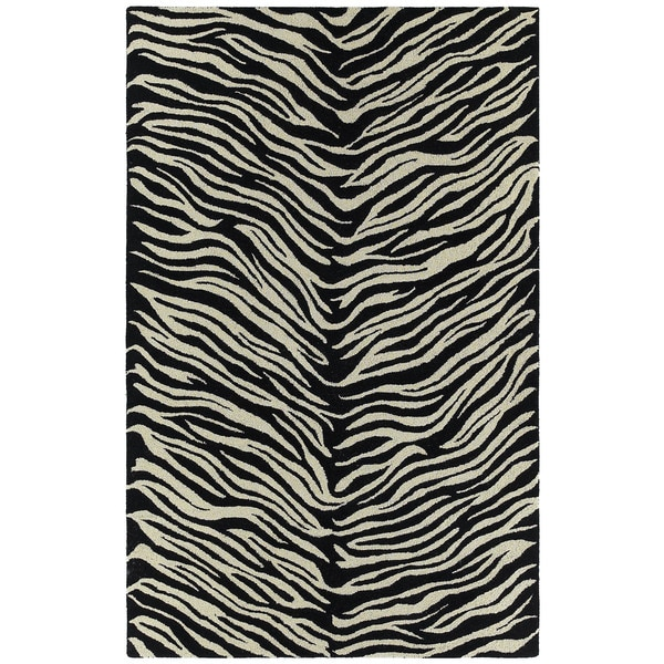 Hand-tufted Lawrence Zebra Wool Rug - 8' x 11'
