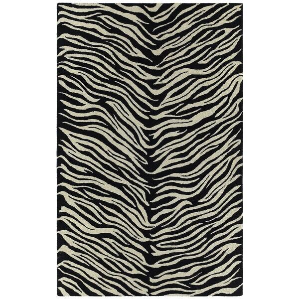 Hand-tufted Lawrence Zebra Wool Rug (2'0 x 3'0)