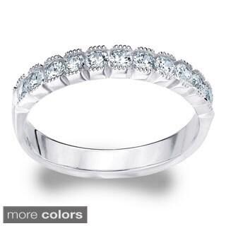 Amore 14k White or Yellow Gold 2ct TDW Diamond Wedding Band