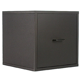 Organize It All Black Storage Open Drawer Cube