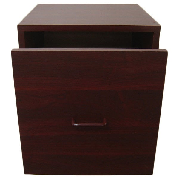 Organize It All Cherry Open Drawer Storage Cube