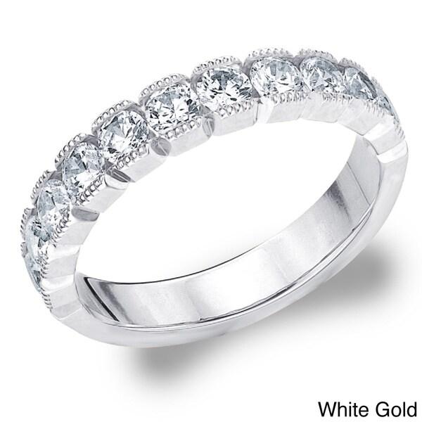 Amore 14k White or Yellow Gold 1ct TDW Diamond Wedding Band