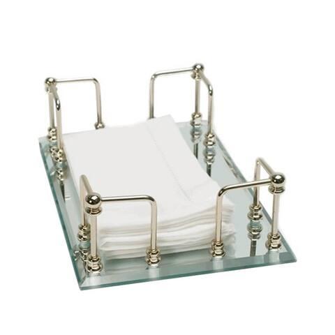Mirrored 13K Gold Finish Towel Tray