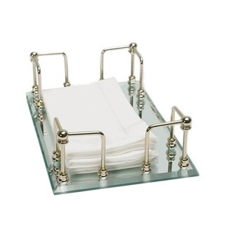 Mirrored 13K Gold Finish Towel Tray