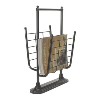 Free Standing Oil Rubbed Bronze Finish Magazine Rack