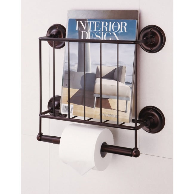 Estate Oil Rubbed Bronze Magazine Rack/ Toilet Paper Hold...