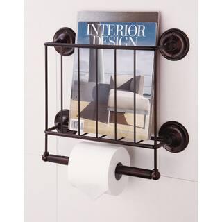 Estate Oil Rubbed Bronze Magazine Rack/ Toilet Paper Holder|https://ak1.ostkcdn.com/images/products/8595239/Estate-Oil-Rubbed-Bronze-Finish-Magazine-Rack-Toilet-Paper-Holder-P15865921.jpg?impolicy=medium