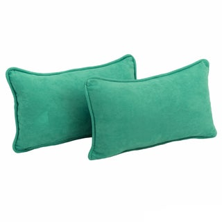 Blazing Needles Microsuede Back Support Throw Pillows (Set of 2) (5 options available)