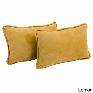 Porch & Den Blaze River Microsuede Back Support Throw Pillows (Set of 2)