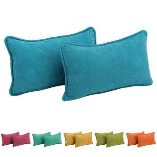 Blazing Needles Microsuede Back Support Throw Pillows (Set of 2)