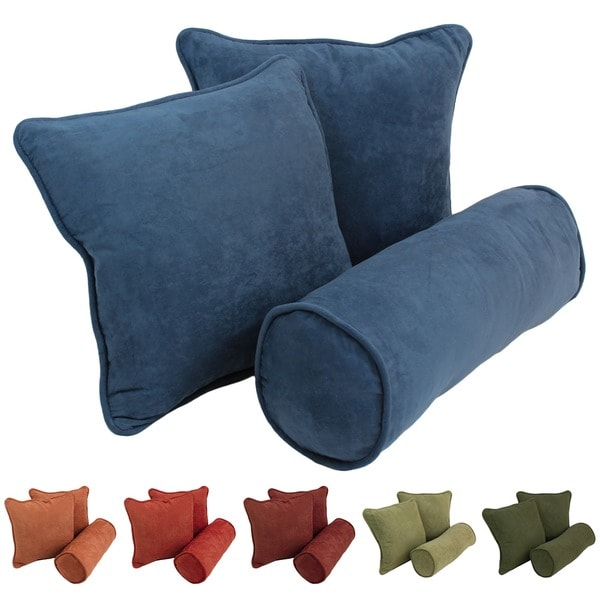 Shop Blazing Needles Earthtone Microsuede Throw Pillows Set Of 40 Enchanting Earth Tone Decorative Pillows