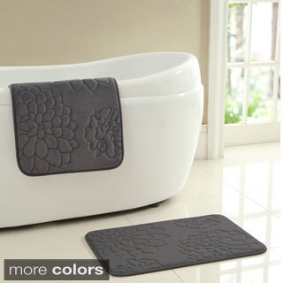VCNY Kaden Memory Foam 2-piece Bath Mat Set