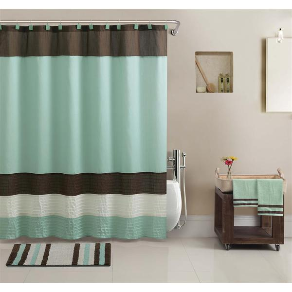 Vcny Regatta Shower Curtain Towel And Bath Accessory 17 Piece Set