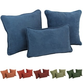 Blazing Needles Earthtone Microsuede Pillows (Set of 3)