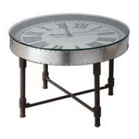 Uttermost Cassem Aluminum Clock Table - Silver