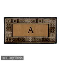 'The Grecian' Extra-thick Monogrammed Doormat (3' x 6')