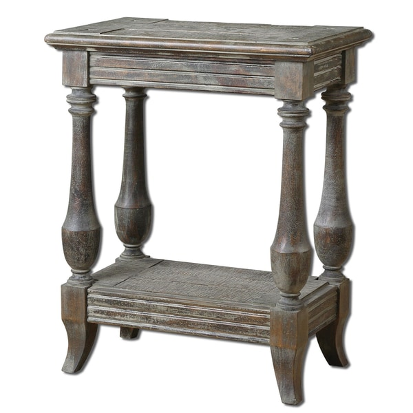 Uttermost Mardonio Waxed Limestone Side Table