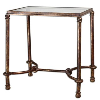 Uttermost Warring Rustic Bronze Patina End Table