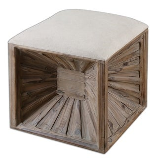 Link to Uttermost Jia Natural Wood Cube Ottoman Similar Items in Living Room Furniture