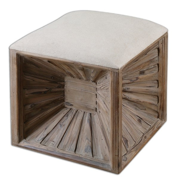 Uttermost Jia Natural Wood Cube Ottoman. Opens flyout.