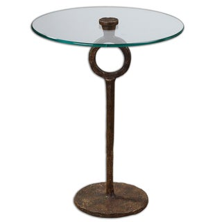 Uttermost Diogo Cast Iron/ Glass Side Table