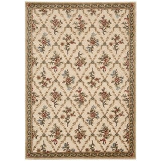 kathy ireland Villa Retreat Americana Wash Estate Cream Area Rug by Nourison (3'6 x 5'6)