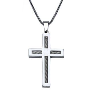 Stainless Steel Mens Cross Pendant