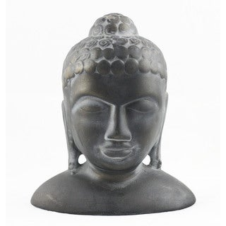 Timbergirl Handcrafted Ceramic Buddha Head Statue (India)